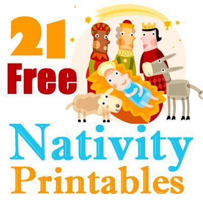 21 Free Printable Nativity Scenes