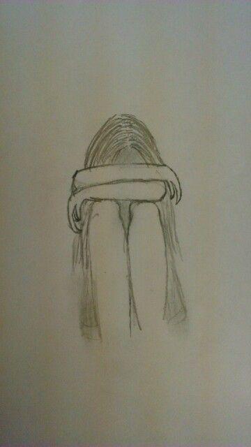 traurige Mädchenzeichnungen. Zeichenideen für Anfänger. besuche meinen youtube kanal um zu lernen