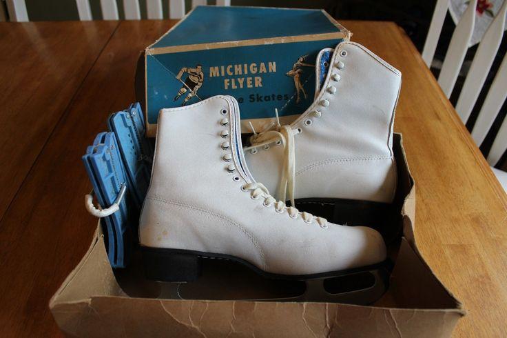 cute michigan flyer vintage skates