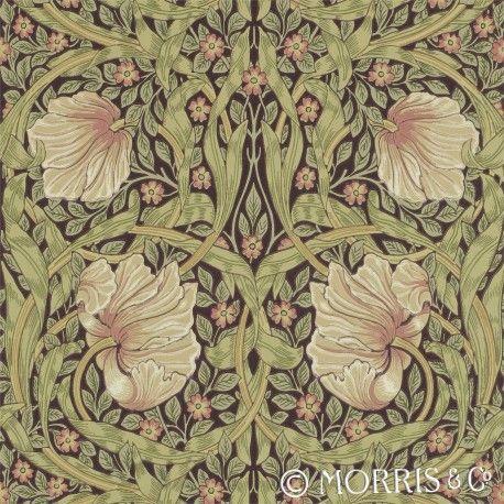 Morris & Co Tapet Pimpernel Bullrush är en färg i serien William Morris pimpernel en av Wllliam Morris favorit tapeter