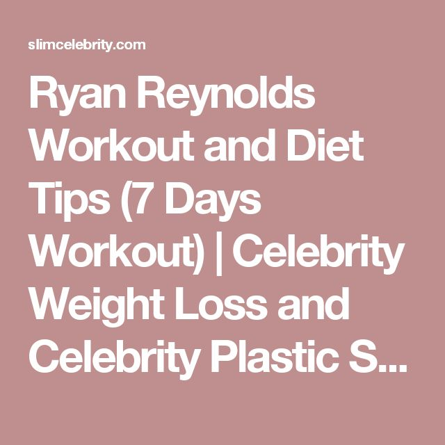 Ryan Reynolds Workout and Diet Tips (7 Days Workout) | Celebrity Weight Loss and Celebrity Plastic Surgery