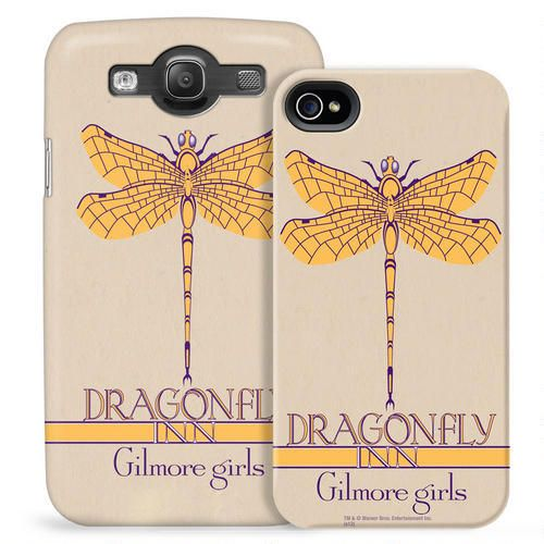Exclusively ours, this phone case features the Dragonfly Inn logo from #GilmoreGirls  and will protect your #iPhone or Galaxy in style.