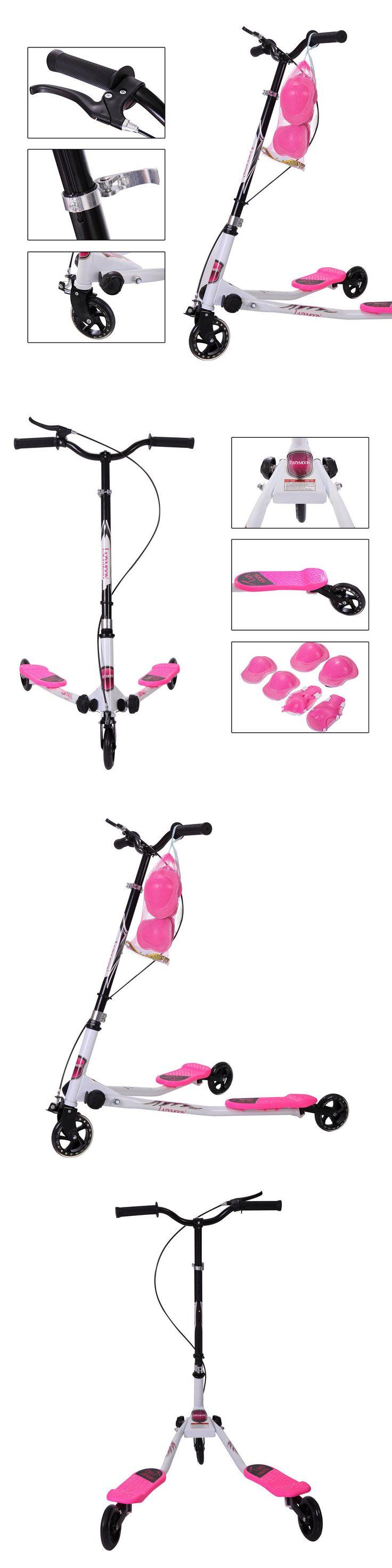 Kick Scooters 11331: Pink Kids Scooter Wiggle Y Flicker Foldable Speeder Tri Slider Kickboard Medium -> BUY IT NOW ONLY: $53.99 on eBay!