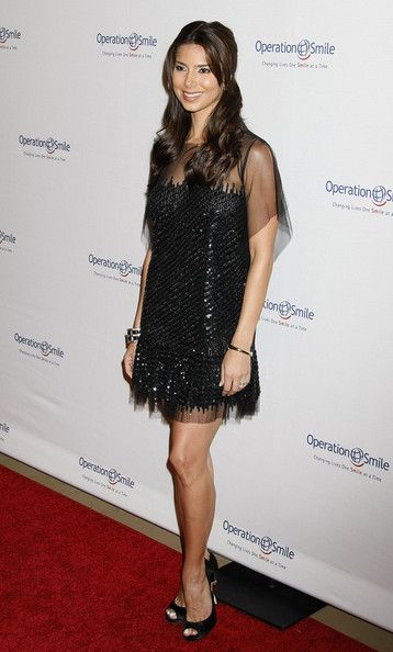 Roselyn Sanchez Little Black Dress - Snapped arriving at Operation Smile's 8th Annual Gala in LA, Roselyn Sanchez showed off her sheer and sparkly take on the classic LBD.