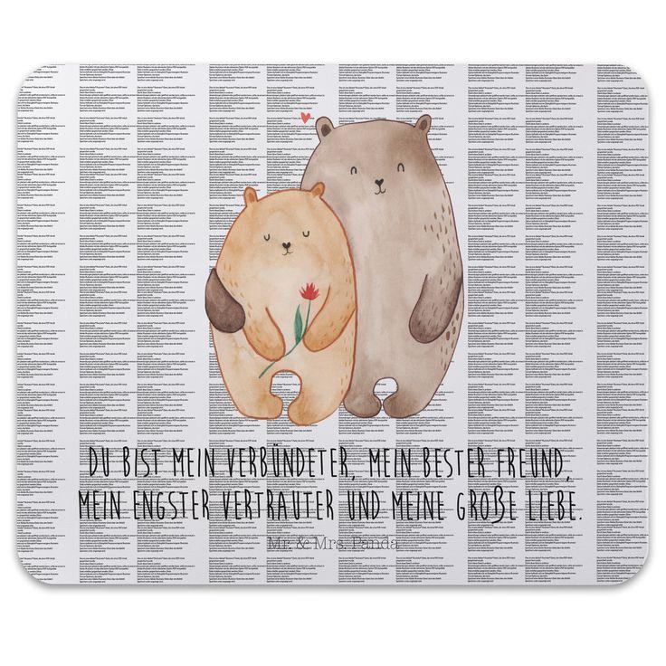 Mauspad Druck Bären Liebe aus Naturkautschuk  black - Das Original von Mr. & Mrs. Panda.  Ein wunderschönes Mouse Pad der Marke Mr. & Mrs. Panda. Alle Motive werden liebevoll gestaltet und in unserer Manufaktur in Norddeutschland per Hand auf die Mouse Pads aufgebracht.    Über unser Motiv Bären Liebe  Das Gefühl verliebt zu sein und seinen Verbündeten gefunden zu haben ist unbezahlbar.  Die verliebten Bären überbringen für dich eine ganz süße Botschaft...    Verwendete Materialien…