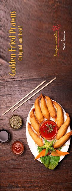 This conventional prawn recipe is loved by all. Handpicked prawns coated and deep fried until golden. Served with sweet chili sauce..#DragonNoodles #Chinese #Food #foodies #vaishali #indirapuram #GoldenFriedPrawns