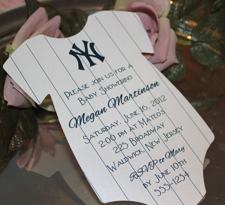 new york yankees baby shower cakes | See the small card with the code on it? The seller printed that out ...