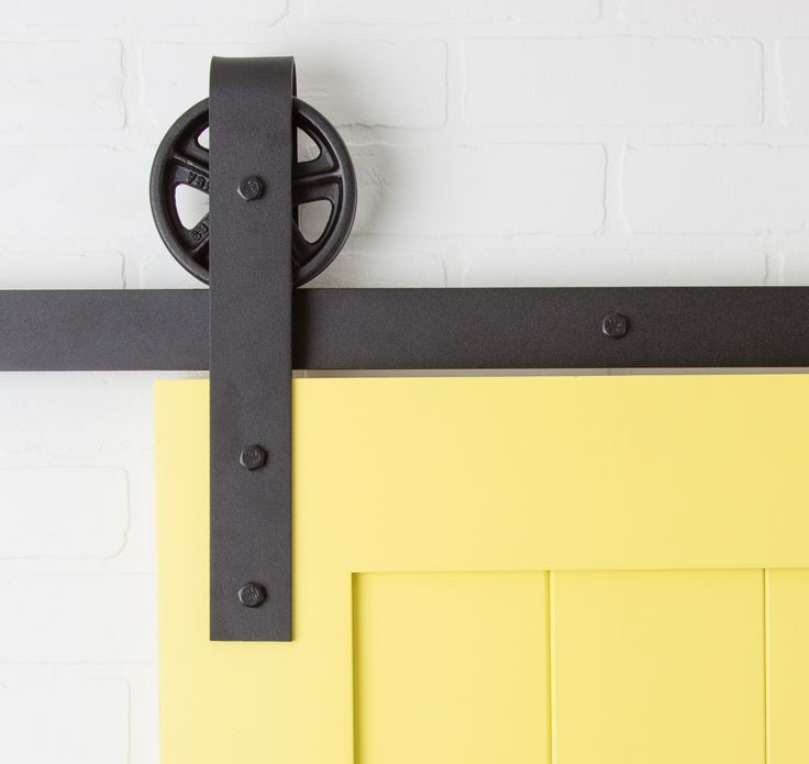 42 best kitchen project images on pinterest my house for Hanging barn door in house