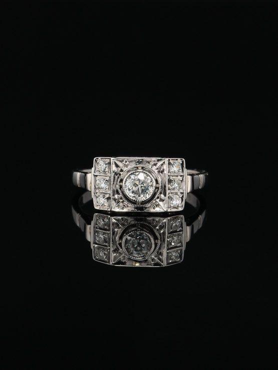 Genuine Art Deco diamond elegant cluster by AntiqueVelvetGloves