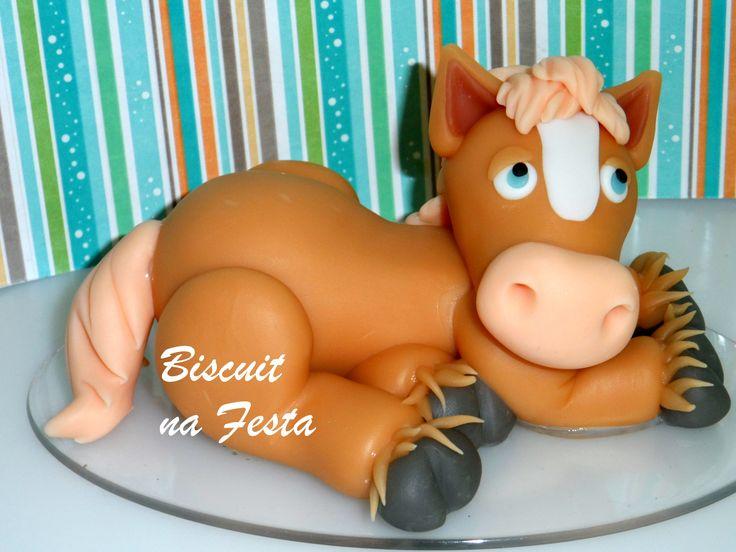 Topo de bolo Fazendinha Cavalo | Biscuit na Festa | Elo7