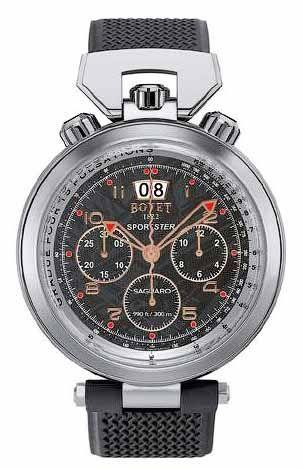 SP0402-MA Bovet Saguaro Chronograph 46 - швейцарские мужские часы наручные, стальные, черные