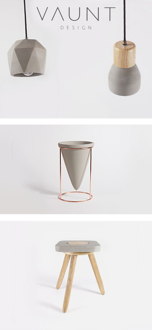 From concrete lighting, concrete stools to concret…