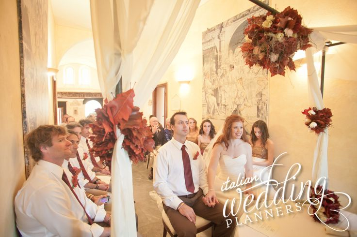 Indoor Civil ceremony @Portofino Wedding Planners in Portofino Email: info@italianweddingplanners.com