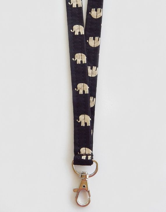 Elephant Lanyard / Elephants Keychain / Boho / Key by planet86