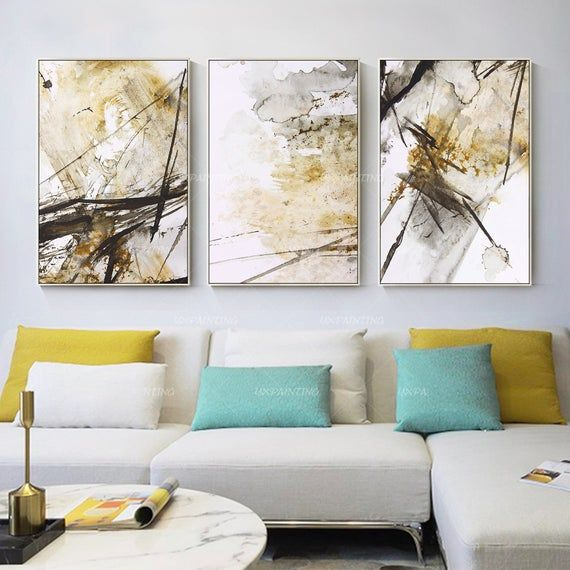 3 Pieces Wall Art Abstract Print Art Painting Set Of 3 Wall Etsy In 2020 3 Piece Wall Art Home Decor Wall Art Painting Frames