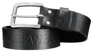 Complete your look with a robust #leather belt. This belt has a sturdy buckle and is 4mm thick for extra durability. Available in black and brown in three different sizes. - Snickers Workwear Artnr. 9034