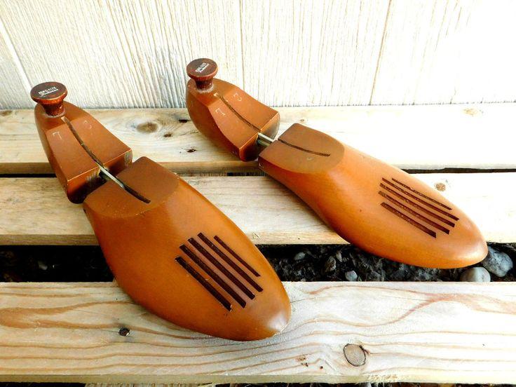 Pair Vintage Wooden Shoe Forms King-Size Footwear King Size 2L  Wood Shoe Tree #KingSized