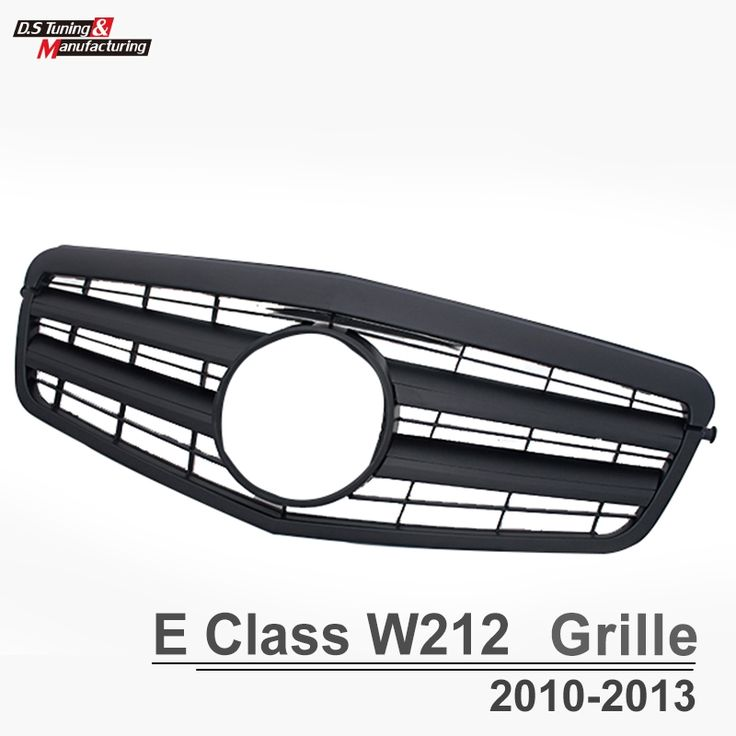 97.30$  Buy here - http://ali1vp.worldwells.pw/go.php?t=32697132400 - Mercedes E class w212  pre-facelift  with E63 2-fin front bumper grill grille for benz E class 2010-2013 E250 97.30$
