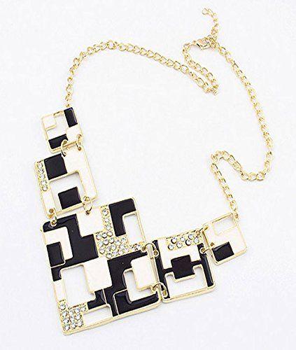 Cinderella Black & White Geometric Necklace Cinderella Collection By Shining Diva http://www.amazon.in/dp/B00S9ADRDA/ref=cm_sw_r_pi_dp_RElawb15VNE93