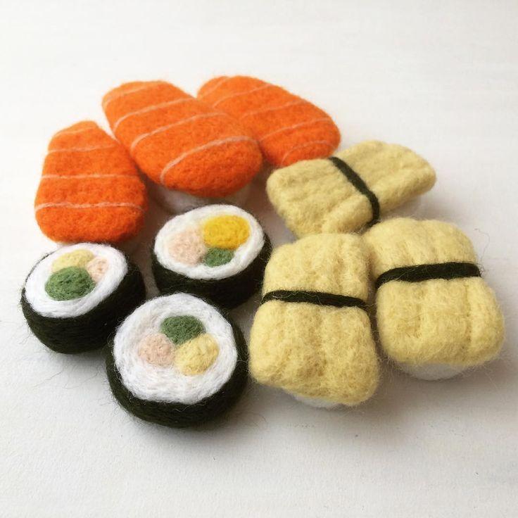 Needle felt sushi