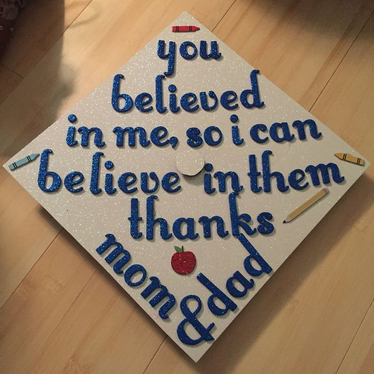 Graduation cap for educational focuses