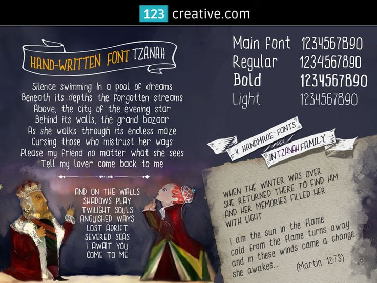 ► TZANAH FONT FAMILY - regular, thin and bold handwritten font for childerns book. Download: http://www.123creative.com/professional-fonts-typography-online-category-handwritten-script/1371-fairy-tale-children-font-tzanah-font-family.html