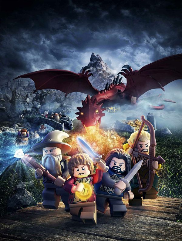 "Smaug Is Just as Scary in Lego Form! Exclusive cutscene from ""Lego The Hobbit,"" the latest Lego-themed video game."