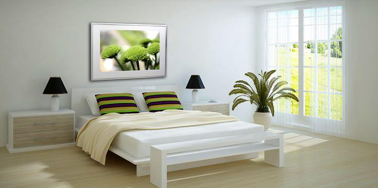 Nu Arte Lime green flower photo print