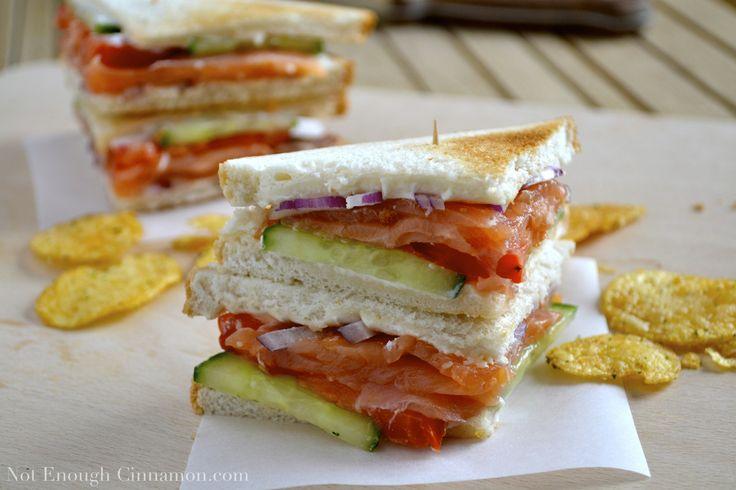 Smoked Salmon Club Sandwich - Not Enough Cinnamon
