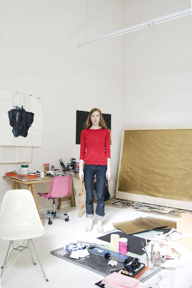 Tina Berning in her studio - Artbox