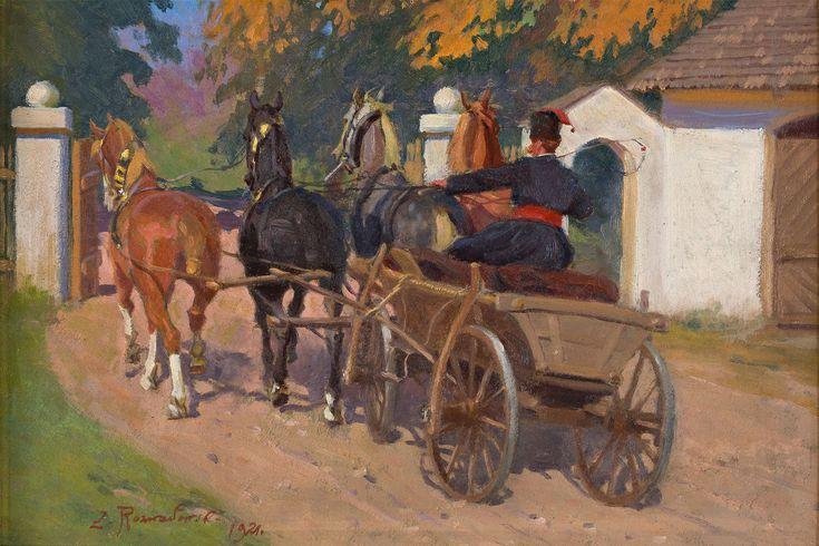 ZYGMUNT ROZWADOWSKI   WYJAZD Z DWORU, 1921