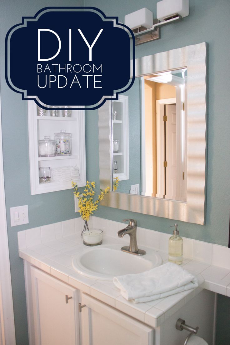 Diy Simple Bathroom Upgrades That You Can Do To Make A Big