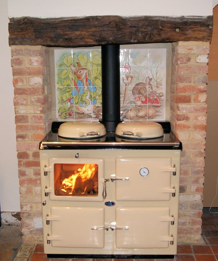 Cream wood wood fired burning aga my style cottage for Cucine a legna usate