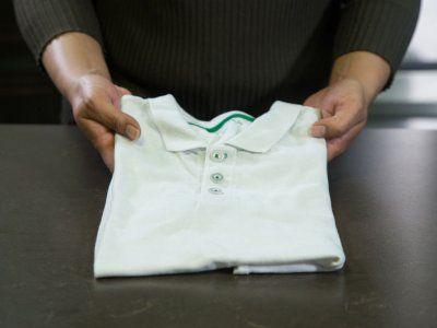 M s de 17 ideas fant sticas sobre doblar camisas en - Tabla para doblar camisetas ...