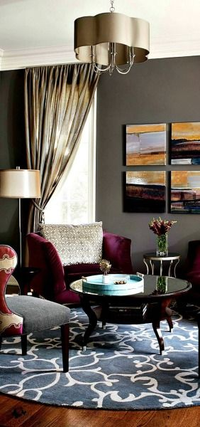 17 best images about sai luxury decor homes on pinterest - Purple and grey living room accessories ...
