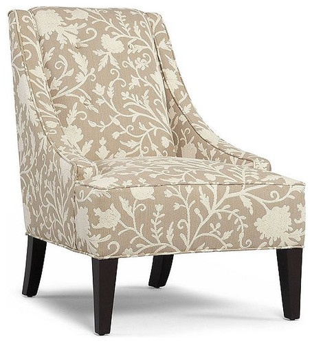 Martha Stewart Fabric Living Room Chair, Lansdale Accent - contemporary - chairs - Macy's