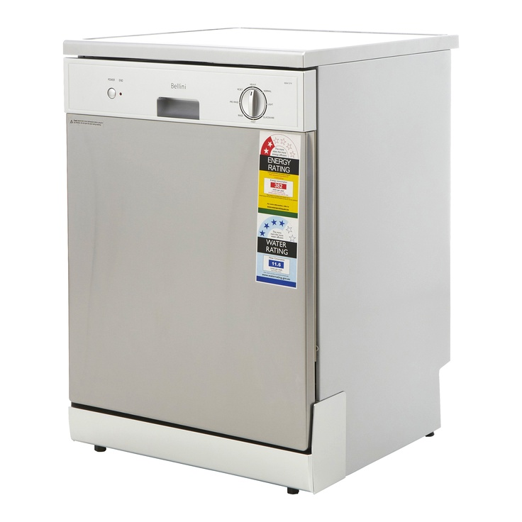 Bellini 11.6L Stainless WELS 4 Star 11.6L/Wash Dishwasher - Bunnings Warehouse