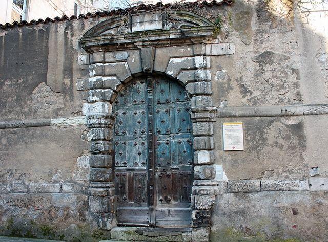Medieval door, Poitiers,France