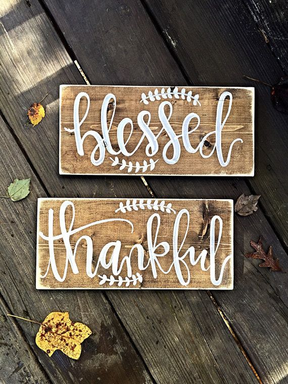 Blessed Sign Thankful Home Decor By Salvagedchicmarket
