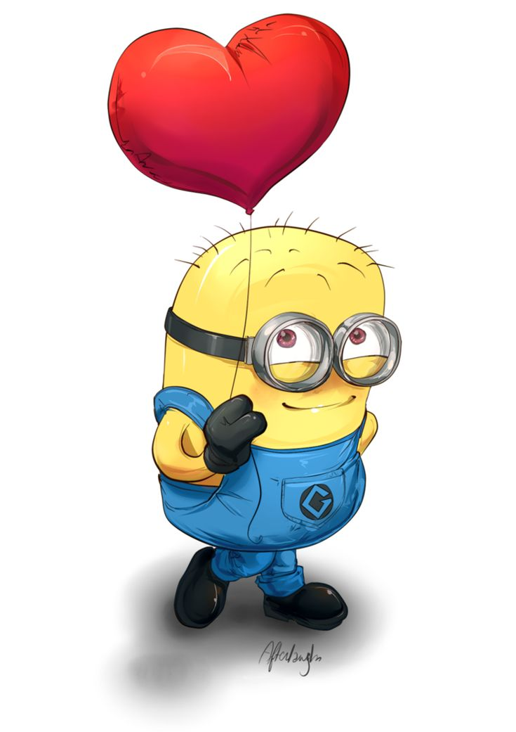 Creative minion dp for facebook and whatsapp 1 my love my life minion love quotes - Image minions ...