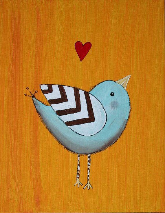 nursery art bird painting:)