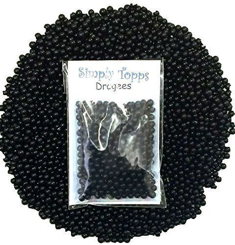 Black 4mm sugar dragees 30g for cake and cookie decorations simply topps http://www.amazon.co.uk/dp/B00MX1VA58/ref=cm_sw_r_pi_dp_lGl1wb1G0C49D