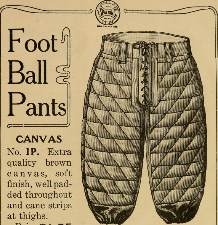 """FOOTBALL PANTS - ad: Image from page 310 of """"The Official National Collegiate Athletic Association football guide. The official rules book and record book of college football"""" (1907)"""