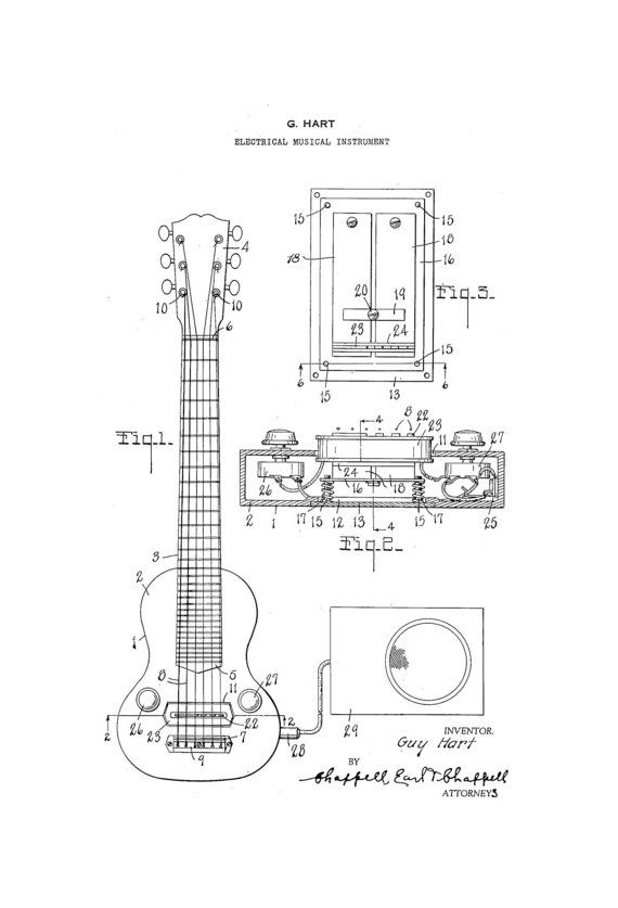 1000  images about guitar patents on pinterest