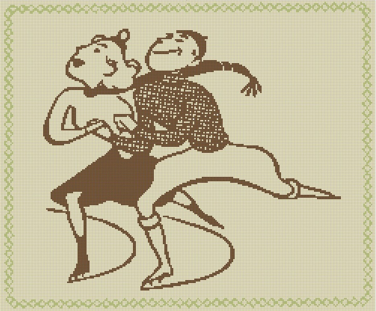 Vintage Retro 1950's Ice Skating Silhouette Handmade Cross-Stitch Pattern | eBay