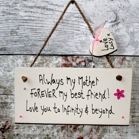 Birthday Gifts For Granny Personalised Love You Mum To Infinity Plaque - Mum gifts from the heart. Personalized gifts for your mom, mummy, mommy. Write your own words and create lovely mum gifts ideas birthday and Mother's Day.
