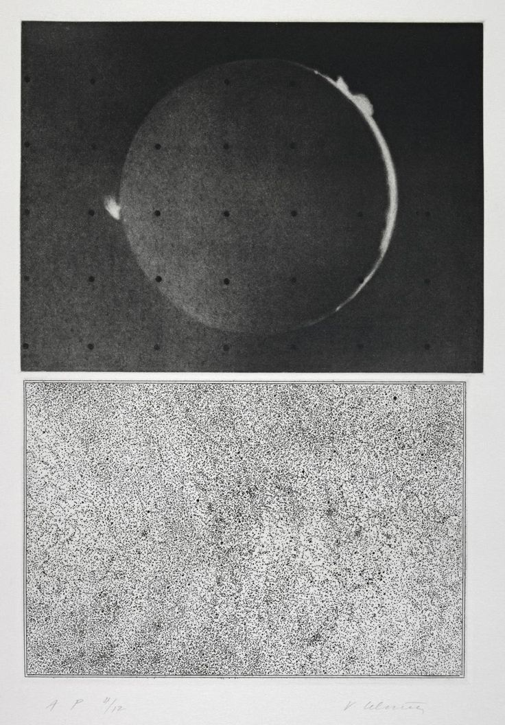 Jupiter Moon - Constellation (1983) -Mezzotint and etching on paper - image (upper): 146 x 193 mm image (lower): 125 x 185 mm - Vija Celmins