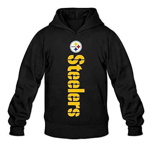DVPHQ Men's Classic Pittsburgh Football Logo Steelers Hoodie Size XL Black >>> For more information, visit image link.