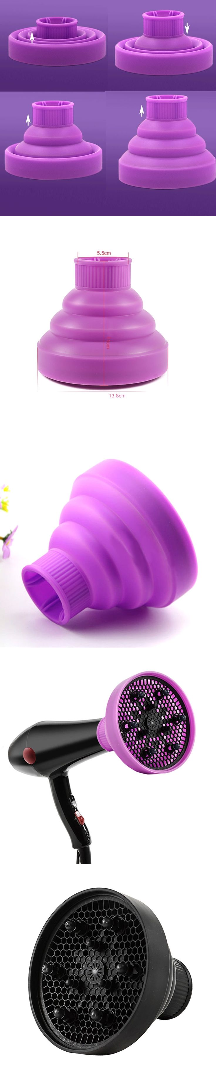 Home Salon Curly Hair Dryer Diffuser Cover Foldable Sillicone Hairdressing Curl DIY Blower Hairs Styling Accessories HS1