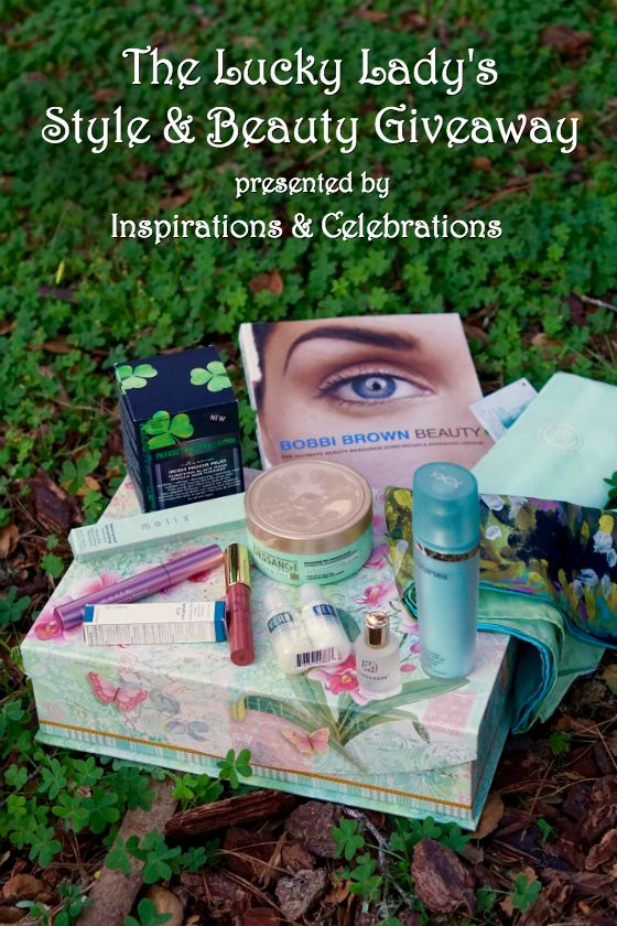 "Win a deluxe $425 prize package by entering ""The Lucky Lady's Style & Beauty #Giveaway"" from Inspirations & Celebrations! Ends 3/31"